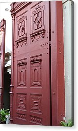 Red Door - Grand Palace In Bangkok Thailand - 01131 Acrylic Print by DC Photographer