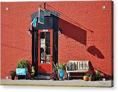 Acrylic Print featuring the photograph Red Door by Ludwig Keck