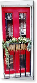 Red Door New Orleans Reflection Acrylic Print