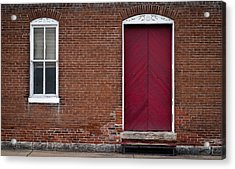 Acrylic Print featuring the photograph Red Door by Wayne Meyer