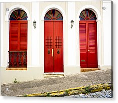 Red Doors Acrylic Print