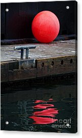 Red Dot Acrylic Print by Elena Nosyreva