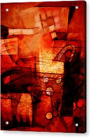 Red Drama Acrylic Print by Ann Croon