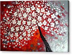 Red Dream Acrylic Print by Mariana Stauffer