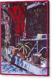Red Dress Acrylic Print by Dan Terry