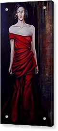 Red Dress Acrylic Print