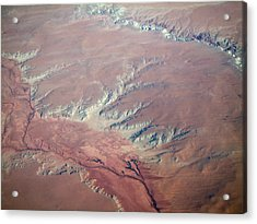 Red Earth Acrylic Print by Pamela Schreckengost