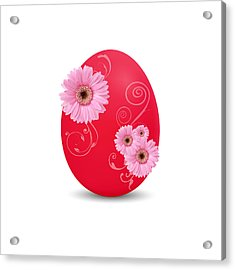 Red Easter Egg Acrylic Print by Aged Pixel