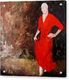 Red Ellegance Acrylic Print