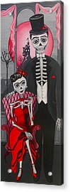 Red Engagement - Frida Y Diego Acrylic Print by Evangelina Portillo