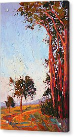 Acrylic Print featuring the painting Red Eucalyptus  by Erin Hanson