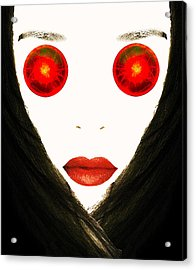 Red Eyes Acrylic Print by Bruce Iorio