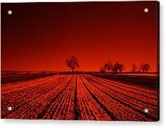 Red Farm Fields Acrylic Print