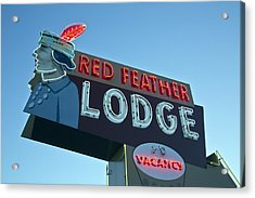 Red Feather Lodge Acrylic Print