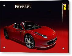 Red Ferrari Convertible Acrylic Print