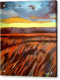 Acrylic Print featuring the painting Red Field by Helena Wierzbicki