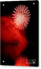 Red Fire Acrylic Print by Martin Capek