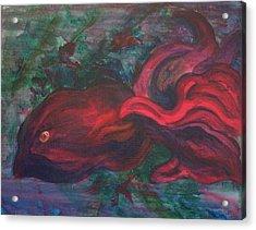 Red Fish Acrylic Print by Sheri Lauren Schmidt