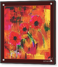 Red Flowers Acrylic Print by Nedunseralathan R
