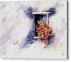 Red Flowers Acrylic Print by Sam Sidders