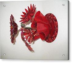 Red Flowers Acrylic Print by Steven Schramek