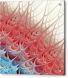 Red Folium Acrylic Print