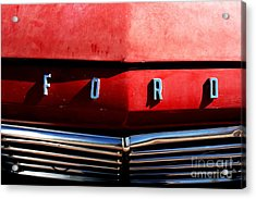 Red Ford 1 Acrylic Print by Kathlene Pizzoferrato