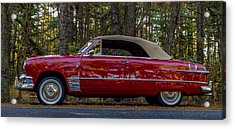 Red Ford Acrylic Print by Capt Gerry Hare