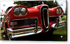Acrylic Print featuring the photograph Red Ford Edsel by Mick Flynn