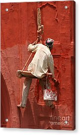 Red Fort Painter Acrylic Print