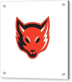 Red Fox Head Front  Acrylic Print by Aloysius Patrimonio