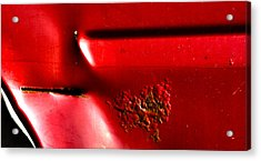 Red Gash Acrylic Print