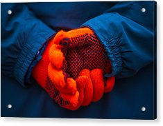 Red Gloves - Featured 3 Acrylic Print by Alexander Senin