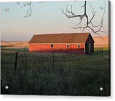 Red Granary Barn Acrylic Print