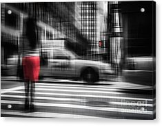 RED Acrylic Print by Hannes Cmarits