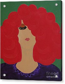 Red Head Acrylic Print by Anita Lewis