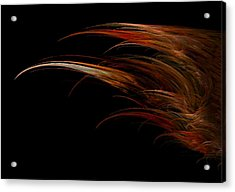 Red Headed Angel Wing Acrylic Print by Madeline  Allen - SmudgeArt