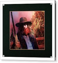 Red Headed Stranger Acrylic Print by David  Chapple