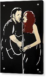 Red Headed Woman Acrylic Print by Carmencita Balagtas