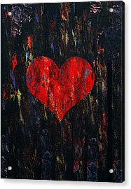 Red Heart Acrylic Print by Michael Creese