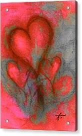 Red Hearts Acrylic Print
