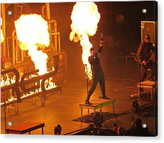 Red Heats Up Winterjam In Atlanta Acrylic Print by Aaron Martens