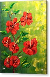 Red Hibiscus 2 Acrylic Print by Rich Mason