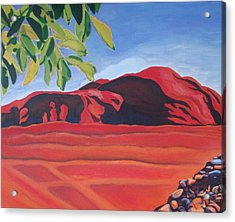 Red Hills In The Republic Of Georgia Acrylic Print