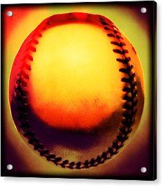Red Hot Baseball Acrylic Print