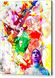 Red Hot Chili Peppers  Acrylic Print by Ryan Rock Artist