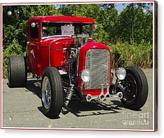 Red Hot Ford Acrylic Print by James C Thomas