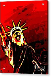 Red Hot Liberty Acrylic Print