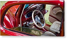 Acrylic Print featuring the photograph Red Hot Rod Interior by Mick Flynn