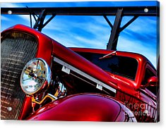 Red Hot Rod Acrylic Print by Olivier Le Queinec